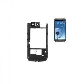 Marco trasero del marco para Samsung Galaxy S3 i9300 marco negro