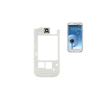 Frame Cornice Posteriore Per Samsung Galaxy S3 I9300 Telaio Bianco