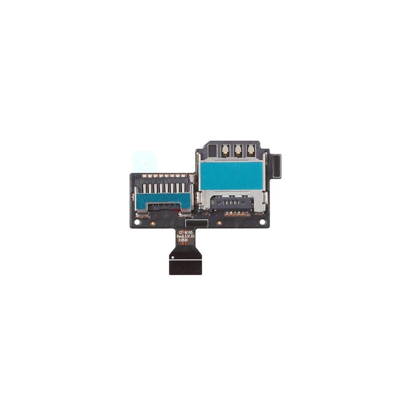SIM-Kartenleser und Micro-SD-Steckplatz Samsung Galaxy S4 Mini GT-I9195 Flach Flex