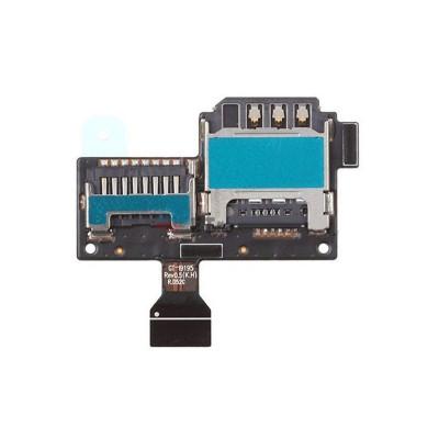 lecteur de carte SIM et slot micro sd Samsung Galaxy S4 Mini GT-I9195 plat flex