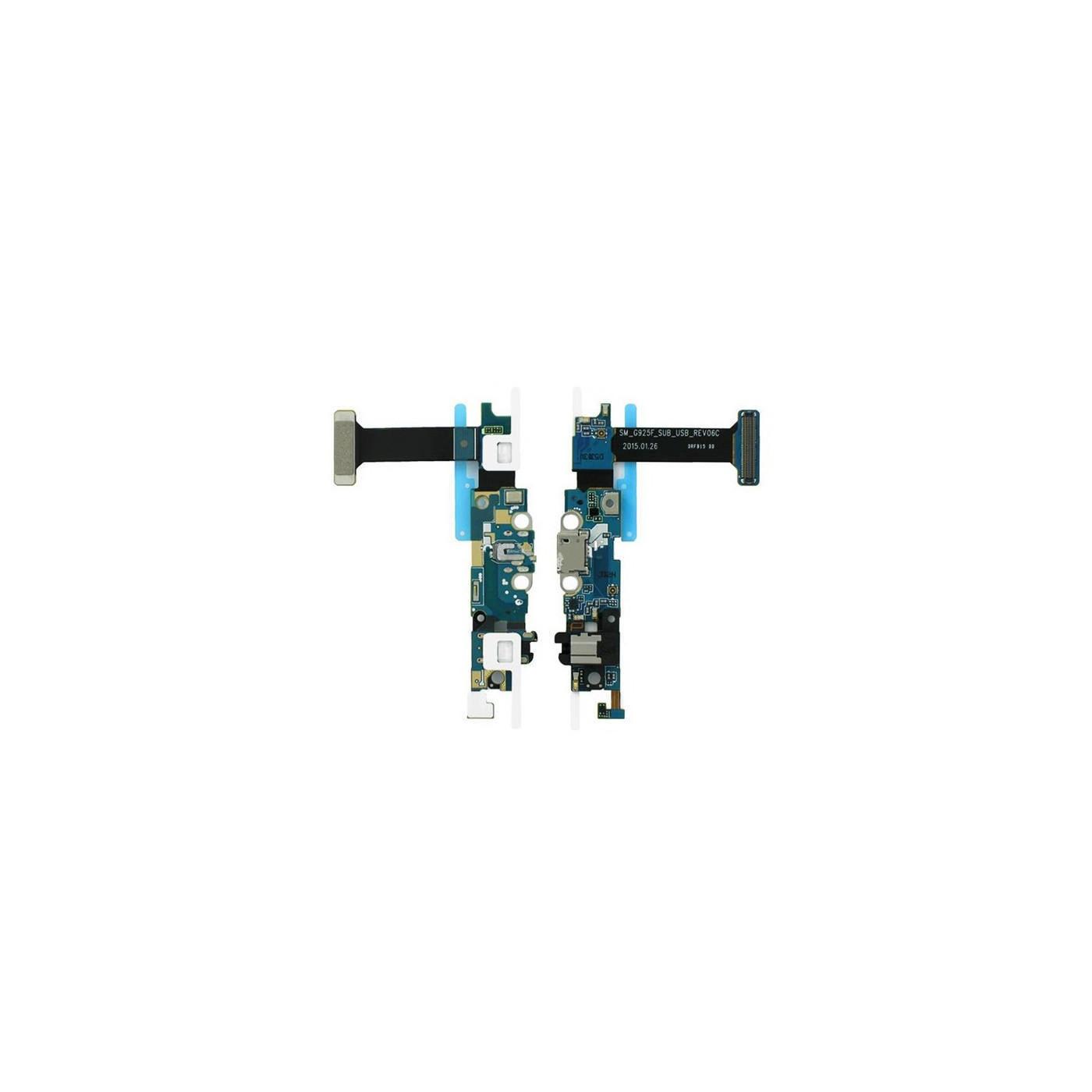 Connecteur de charge plat flexible pour station d'accueil USB Samsung Galaxy S6 Edge G925F
