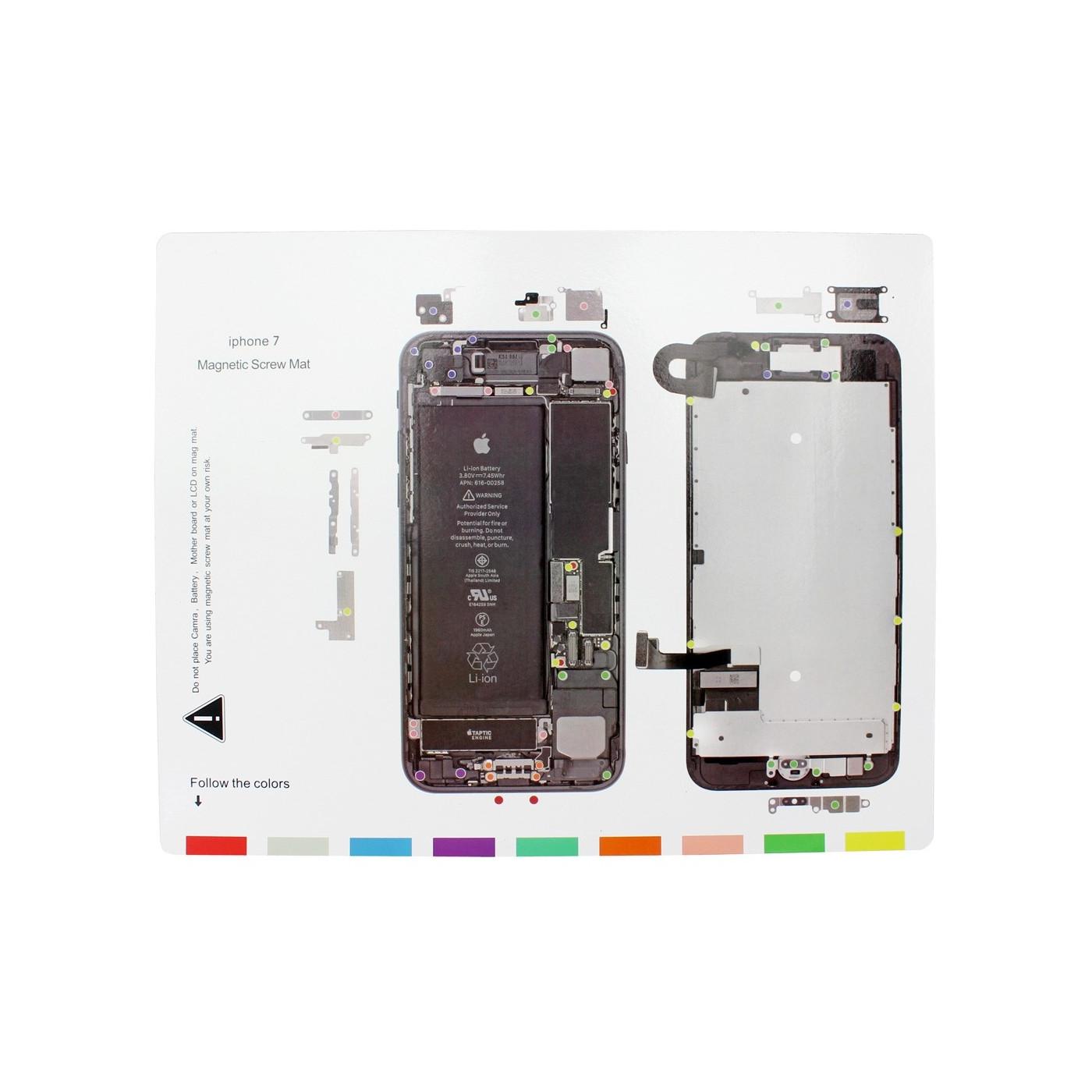 Magnetische Teppichkarte Iphone 7 Magnetische Schrauben Matte 25 x 20