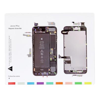 Magnetische Teppich Kartenschrauben Iphone 7 PLUS Magnetische Schrauben Mat 25 x 20