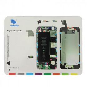 Magnetic carpet map screws Iphone 6 Magnetic Screws Mat 24.7 x 18.7