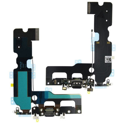Flacher flex ladeanschluss für iphone 7 PLUS schwarz audio-dock-mikrofon