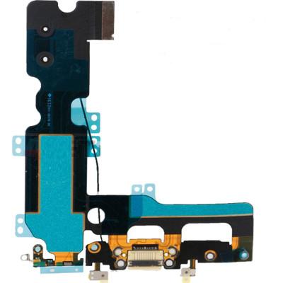 Flacher flex ladeanschluss für iphone 7 PLUS weiß audio-dock-mikrofon