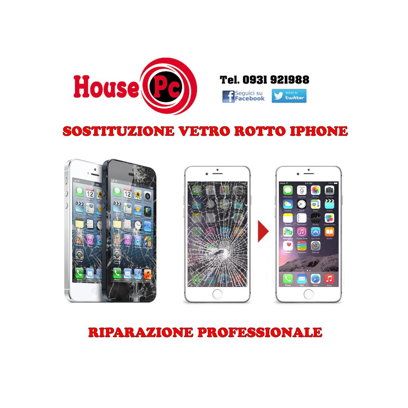 Sostituzione Vetro Rotto Iphone 6 7 8 X Xs Xr Riparazione Vetrino D