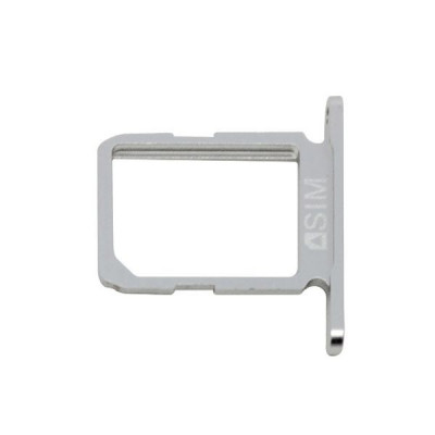 Sim card holder silver samsung galaxy s6-sm g920f white parts