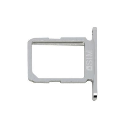 Porta Sim Scheda Silver Per Galaxy S6 Sm-G920F Bianco Ricambio