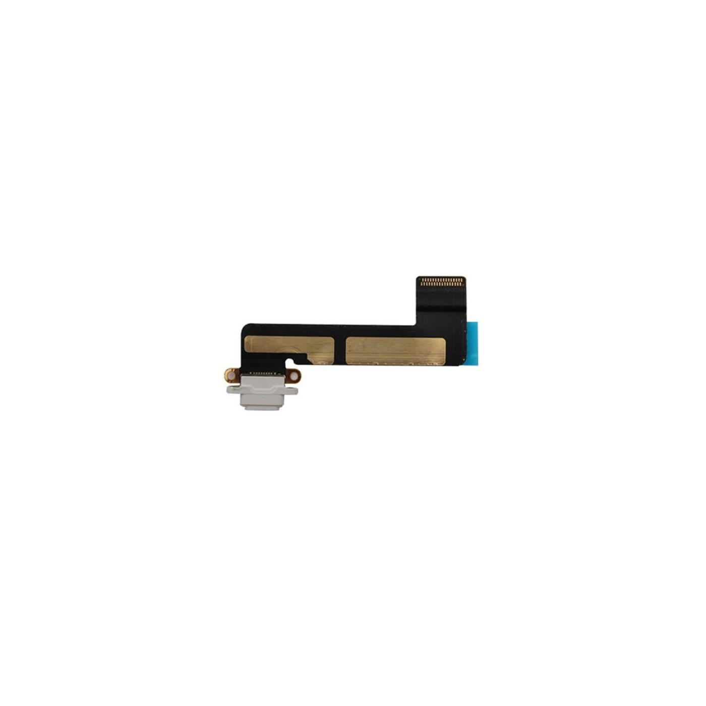 Conector de carga para el puerto de carga plano de la mini flex de Apple ipad blanco