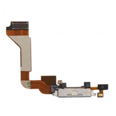 Connettore ricarica per apple iphone 4 bianco flex flat porta di carica ricambio