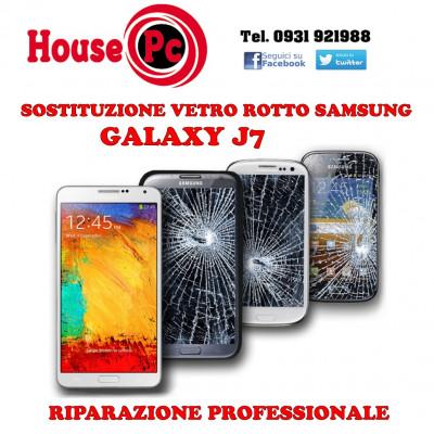 Sostituzione vetro rotto Galaxy J7 2016 - 2017 riparazione rigenerazione display LCD