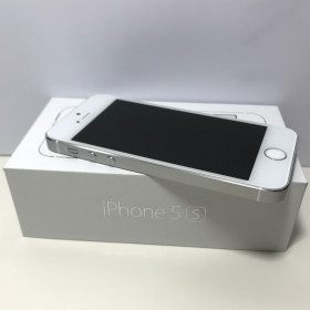 IPHONE 5S SILVER 32GB GRADE A +++ EQUAL TO NEW + BOX AND ACCESSORIES