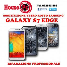 Sostituzione vetro rotto Galaxy S7 EDGE G935F riparazione rigenerazione display LCD