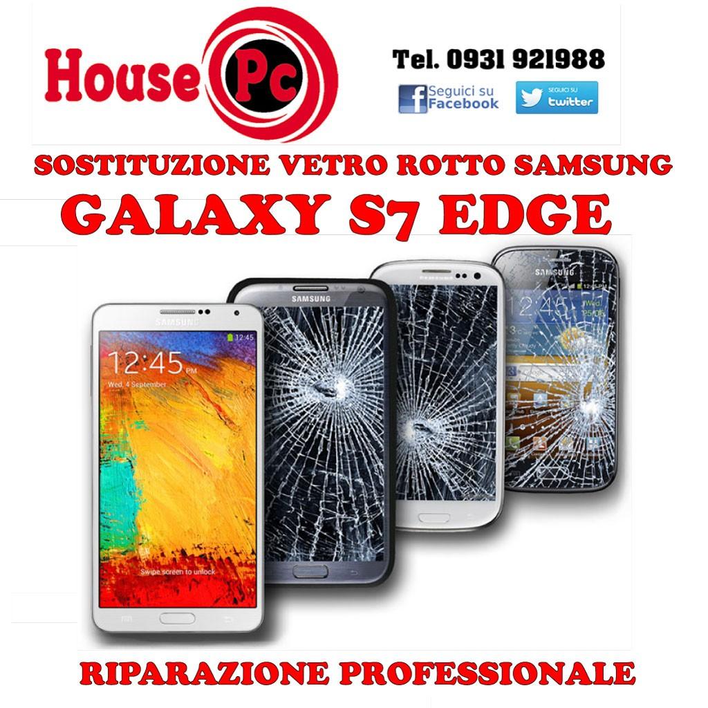 Sostituzione vetro rotto Galaxy S7 EDGE G935F riparazione rigeneraz
