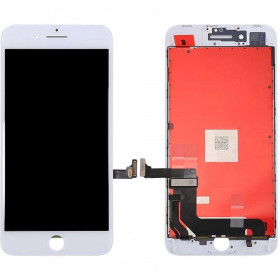 Touch screen + lcd display + frame per apple iphone 8 bianco vetro schermo