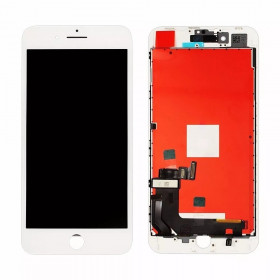 Touch screen + lcd display + frame per apple iphone 7 bianco vetro schermo