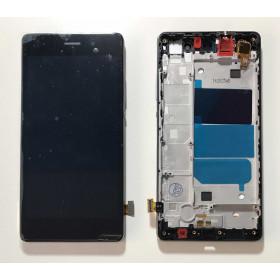 PANTALLA TÁCTIL DE CRISTAL Negro + LCD DISPLAY + MARCO para Huawei Ascend P8 Lite ALE-L21