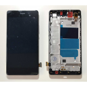 TOUCH SCREEN VETRO Nero + LCD DISPLAY + FRAME Per Huawei Ascend P8 Lite ALE-L21
