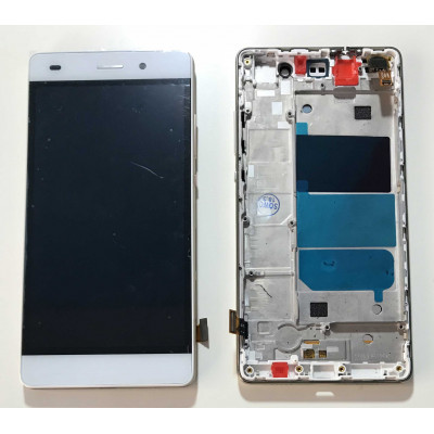 Lcd Display + Touch Screen + Frame For Huawei Ascend P8 Lite Ale-L21 White