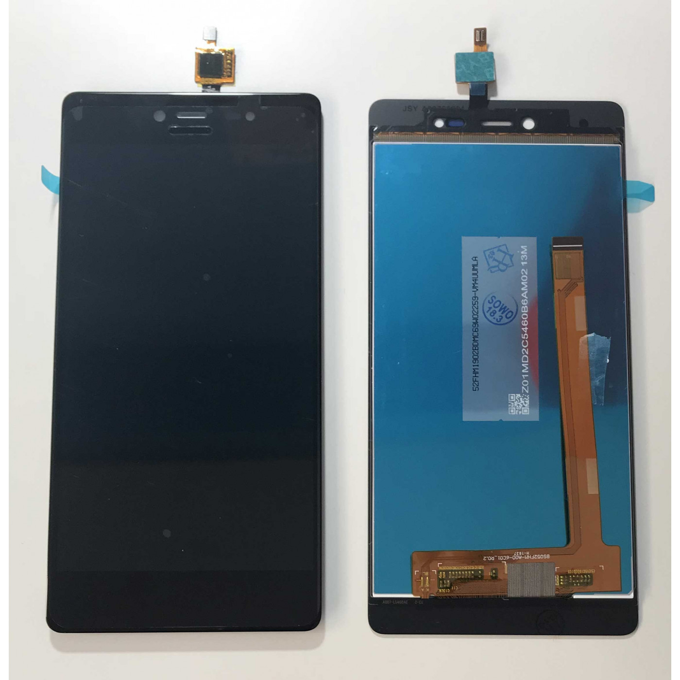 TOUCH SCREEN GLASS + LCD DISPLAY MONTIERT Wiko Fever 4G Schwarz