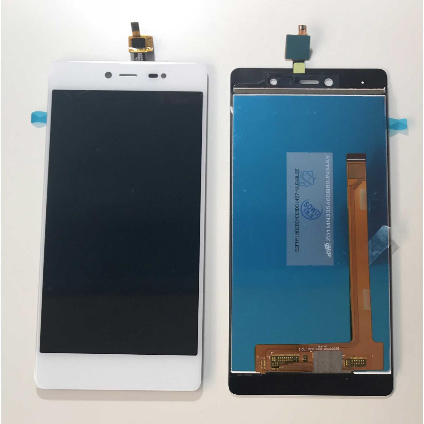 ECRAN TACTILE + AFFICHEUR LCD WIKO FEVER 4G BLANC SHOWCASE EN VERRE