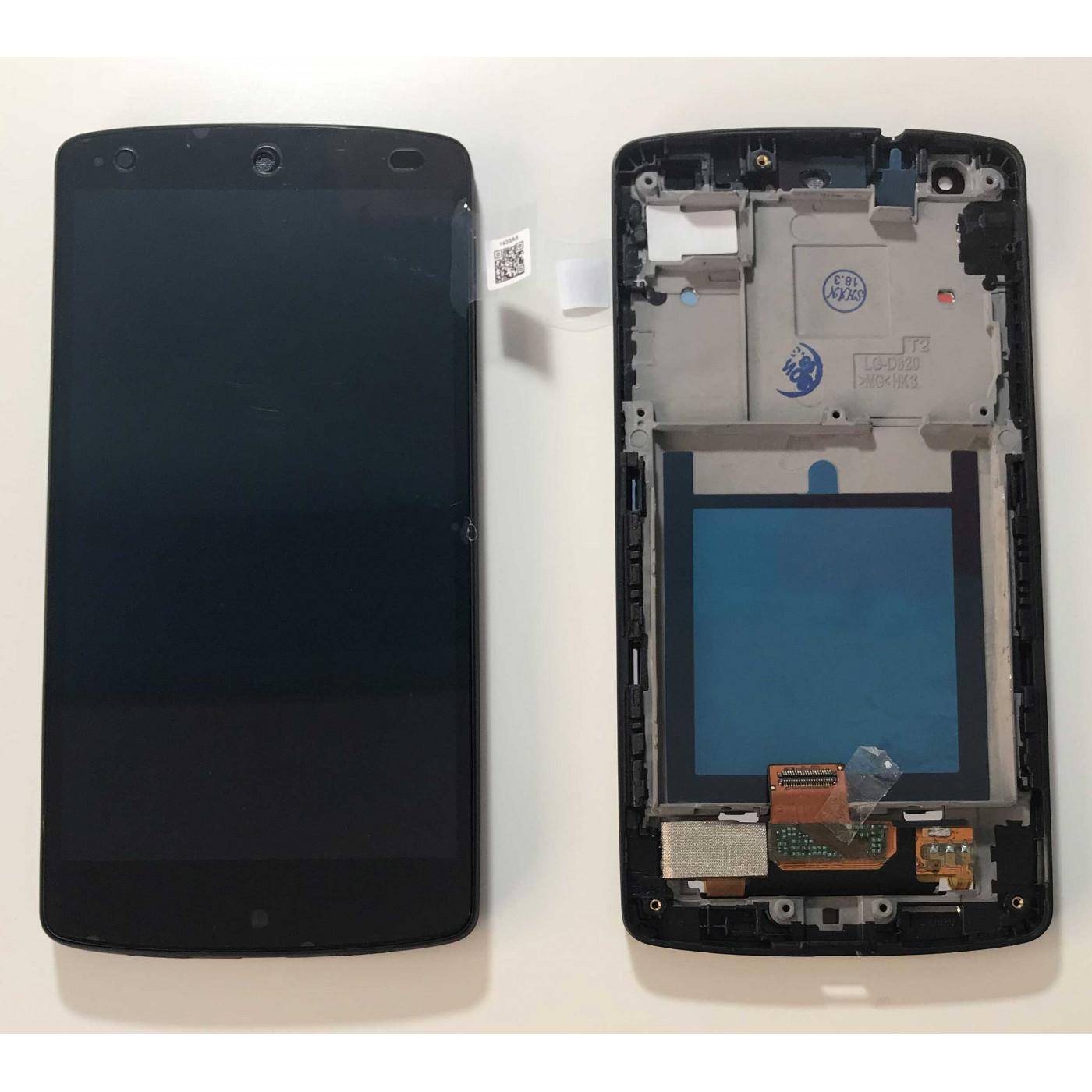 DISPLAY LCD PARI ORIGINALE Per LG Google Nexus 5 D820 D821 Nero FRAME TOUCH SCREEN VETRO