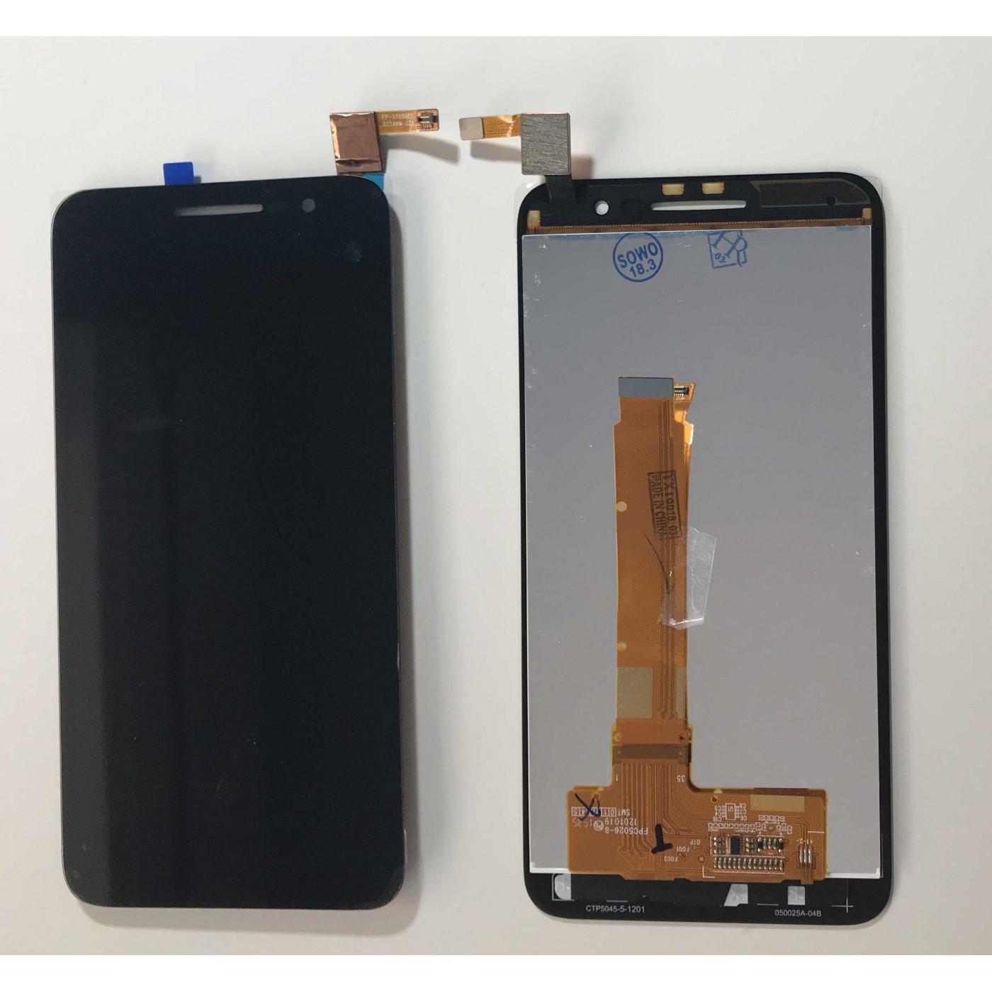 ECRAN TACTILE + AFFICHEUR LCD Alcatel Vodafone Smart Prime 6 VF-895N Noir