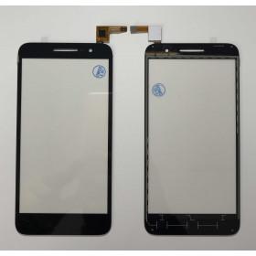 PANTALLA TÁCTIL Alcatel Vodafone Smart Prime 6 VF-895N Cristalizador digital Vidrio negro Slide