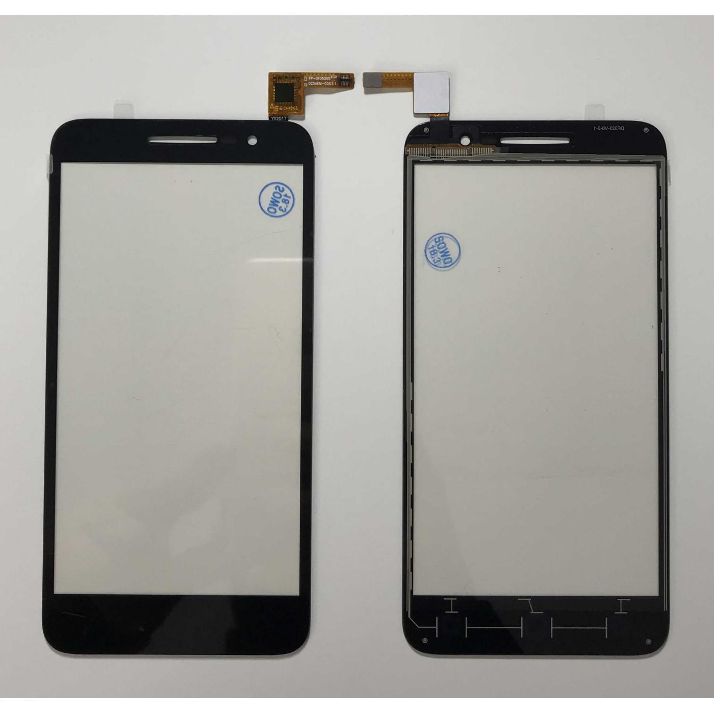 ECRAN TACTILE Glissière en verre noir Alcatel Vodafone Smart Prime 6 VF-895N