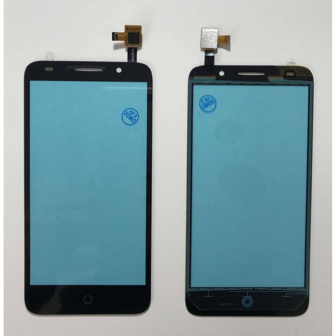 TOUCH SCREEN Per Alcatel One Touch Pop 3 Pixi 5 5015 5015A 5015D Nero Vetrino