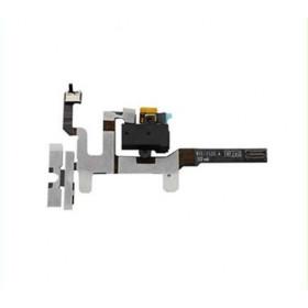 Casque Audio Boutons Audio Pour Apple iPhone 4S 4S Noir Plat Flex Cable Bouton