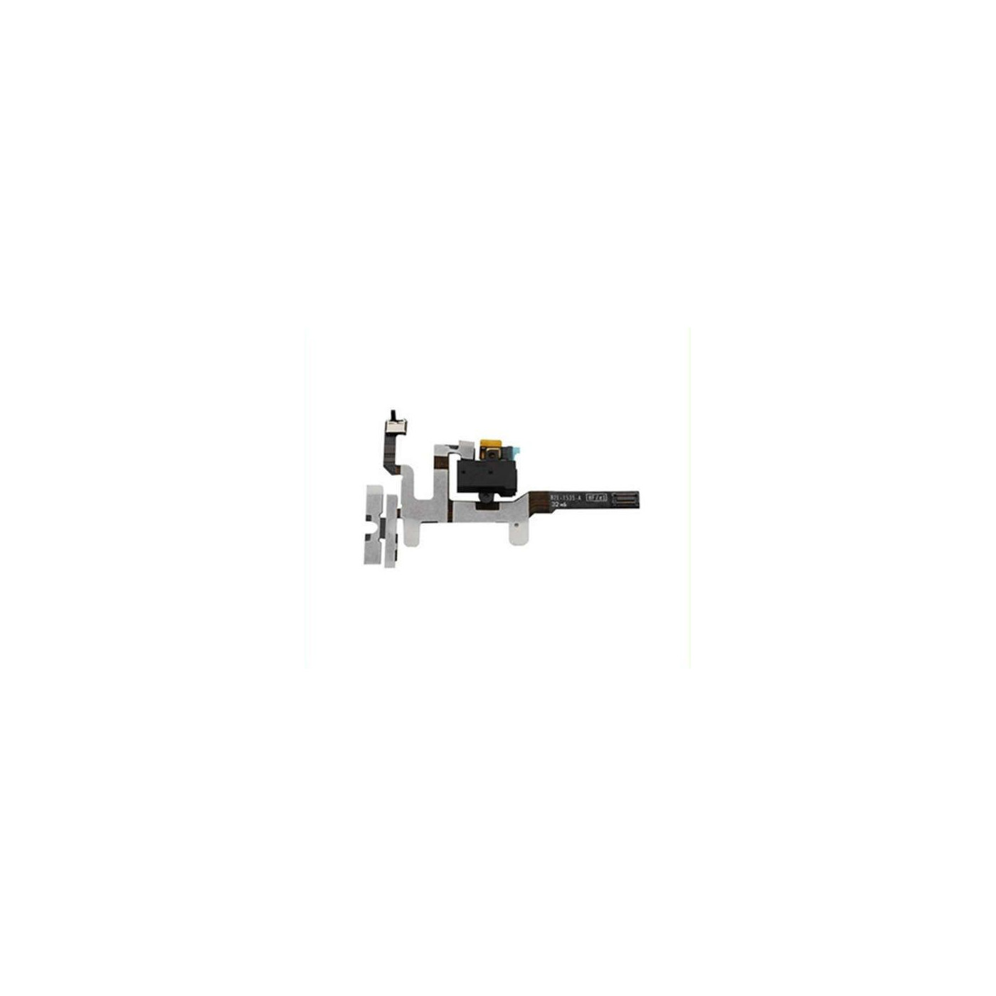 Auriculares Jack Audio Buttons para Apple iPhone 4S 4S botón negro Flex Cable plano