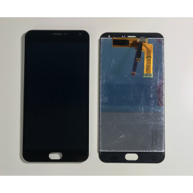 TOUCH SCREEN VETRO + LCD DISPLAY ASSEMBLATO MEIZU M2 NOTE Nero