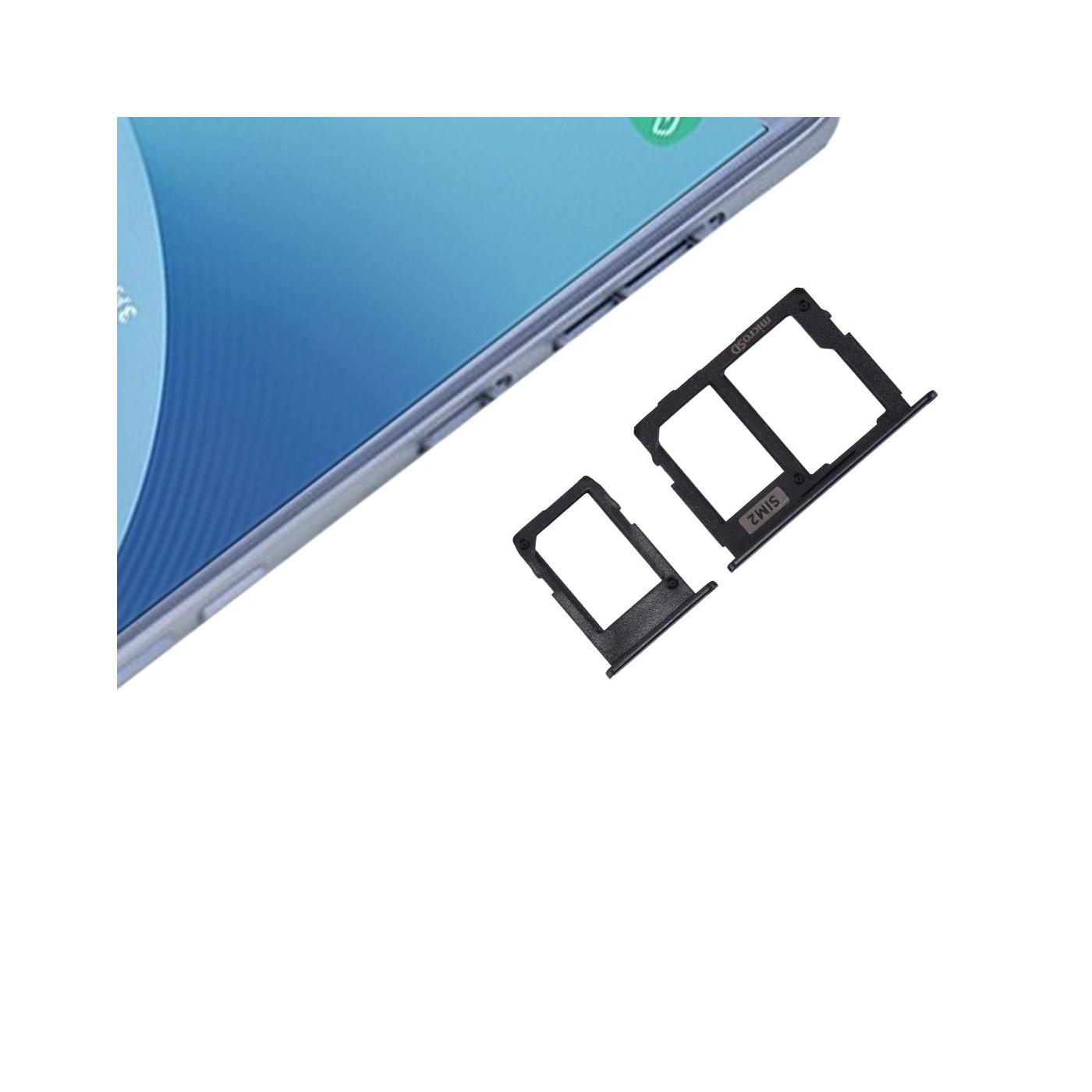 PORTA DUAL SIM + SCHEDA SD NERO SAMSUNG J3 - J5 - J7 2017 SLOT SLITTA