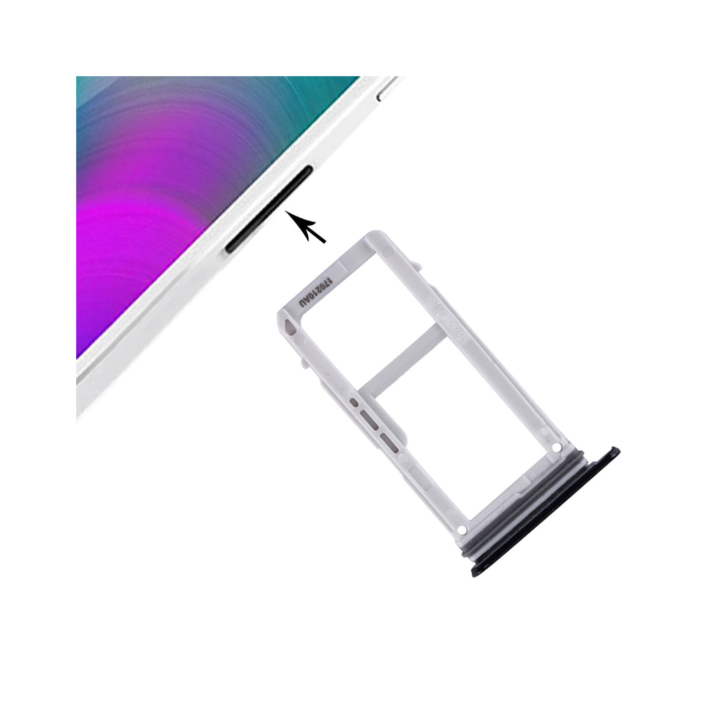 The SIM DOOR SD CARD Samsung Galaxy A3 2017 A320 BLACK SLOT SLIDE