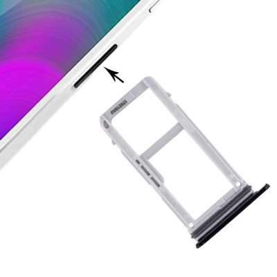 Porta Scheda Sim + Sd Per Galaxy A3 2017 A320 Nero Slot Slitta