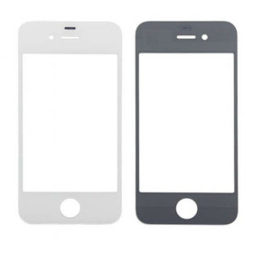 Vetro vetrino frontale per apple iphone 4 bianco touch screen