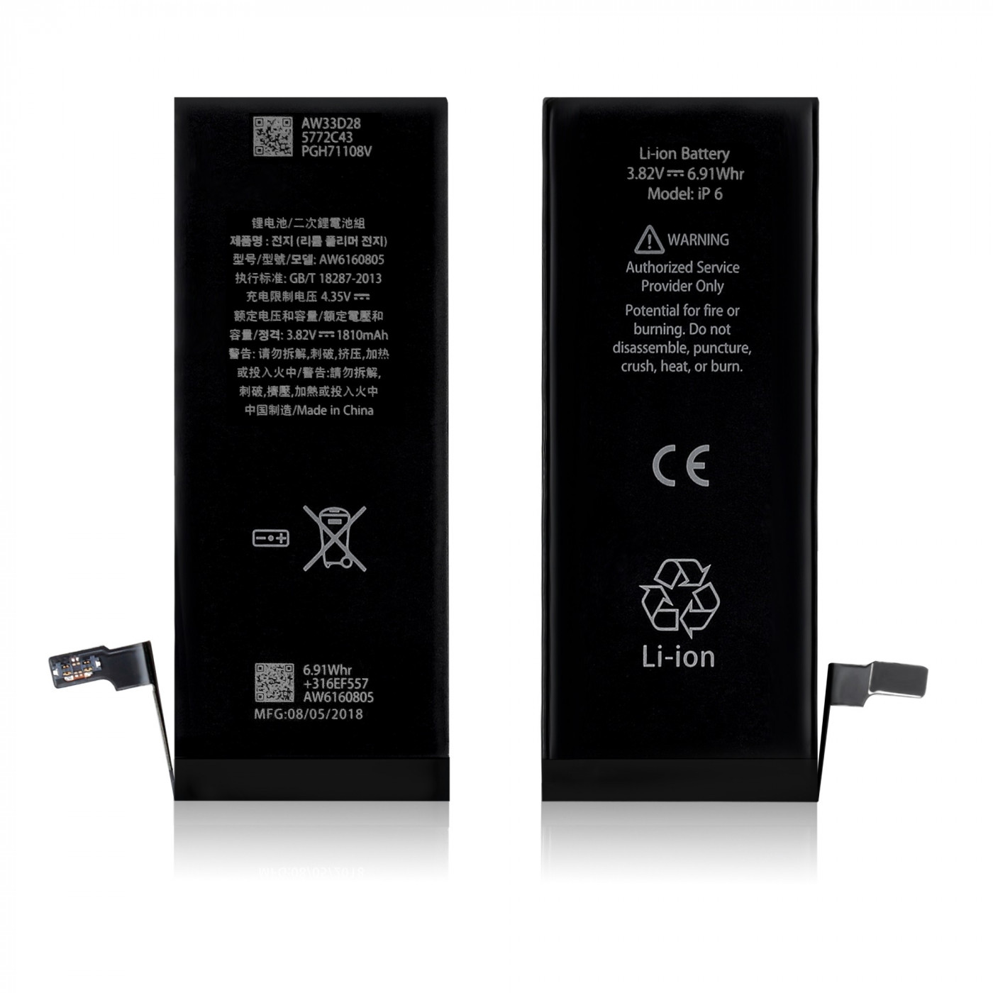 Batteria di ricambio per apple iphone 5s 1510 mah