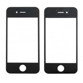Vetro vetrino frontale per apple iphone 4 nero touch screen
