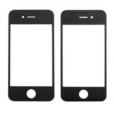 Vidrio frontal de vidrio para Apple iPhone 4 pantalla táctil negro