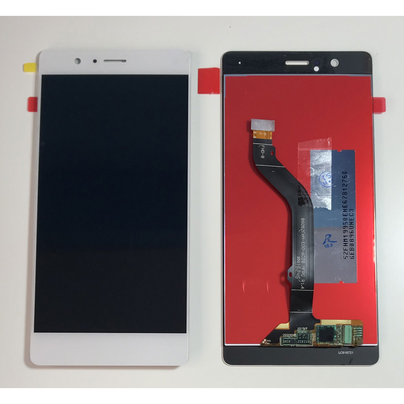 TOUCH SCREEN VETRO + LCD DISPLAY per Huawei P9 Lite BIANCO VNS L-31