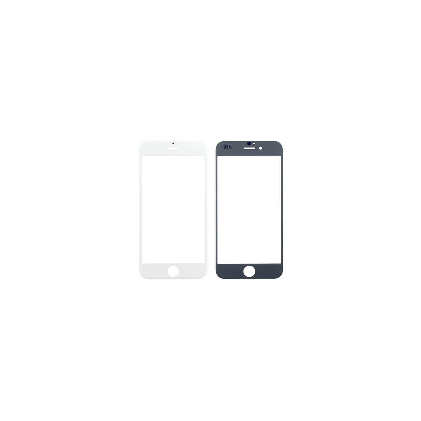 Vetro vetrino frontale per apple iphone 6 - 6s bianco touch screen