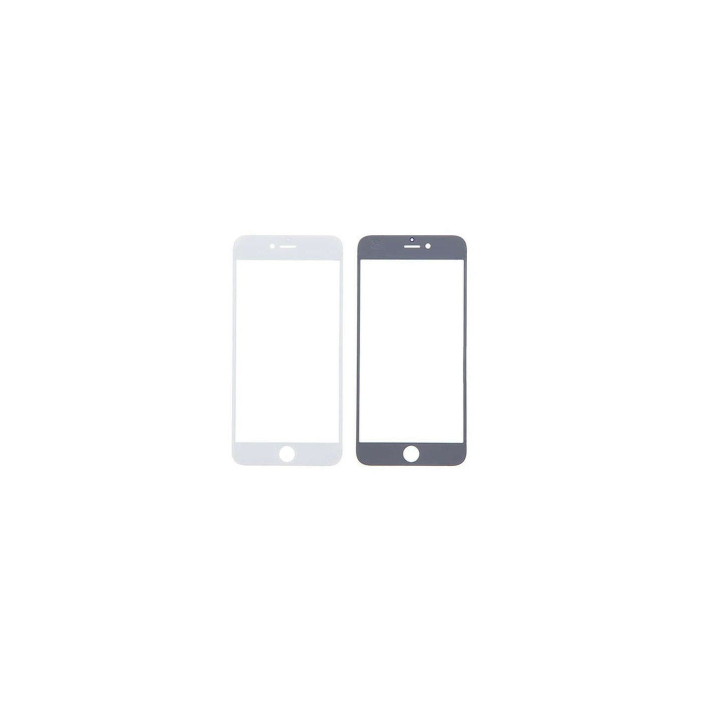 Vetro vetrino frontale per iphone 6 plus - 6s plus bianco touch screen