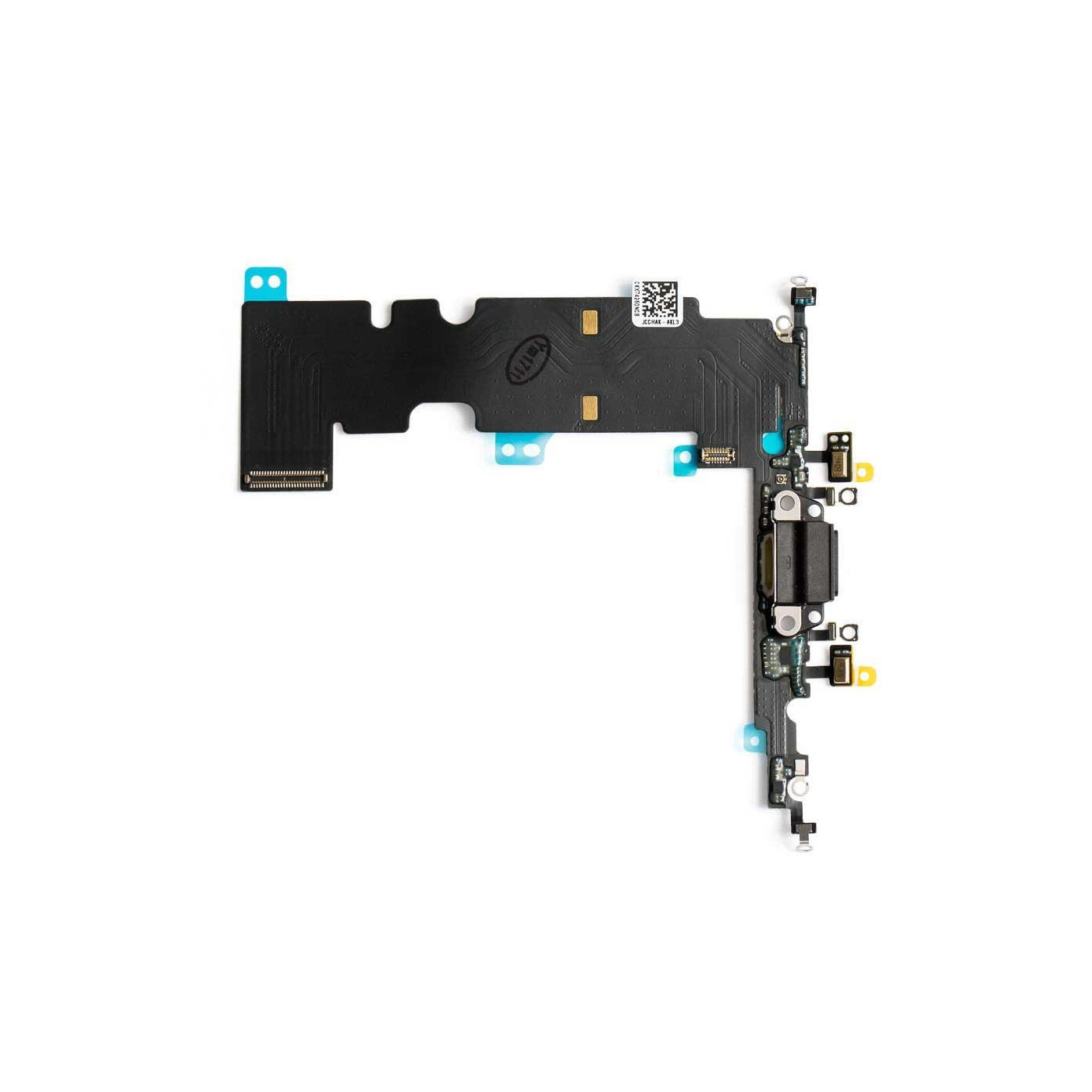 CHARGING CONNECTOR Für Apple iPhone 8 Schwarz Flat Dock Mikrofon Antenne
