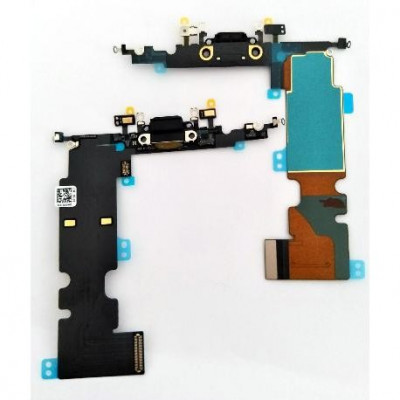 CONECTOR DE CARGA para Apple iPhone 8 PLUS Antena de micrófono plano y negro