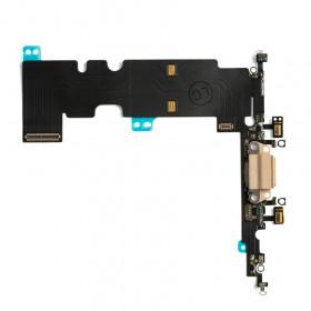CONECTOR DE CARGA para Apple iPhone 8 PLUS Gold Flat Dock Antena de micrófono