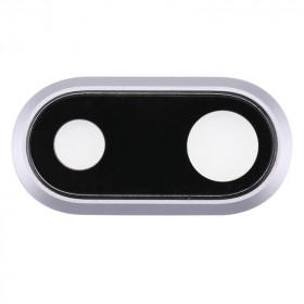 LENS ROOM FOR IPHONE 8 PLUS WHITE GLASS SLIDING BACK BACK + FRAME