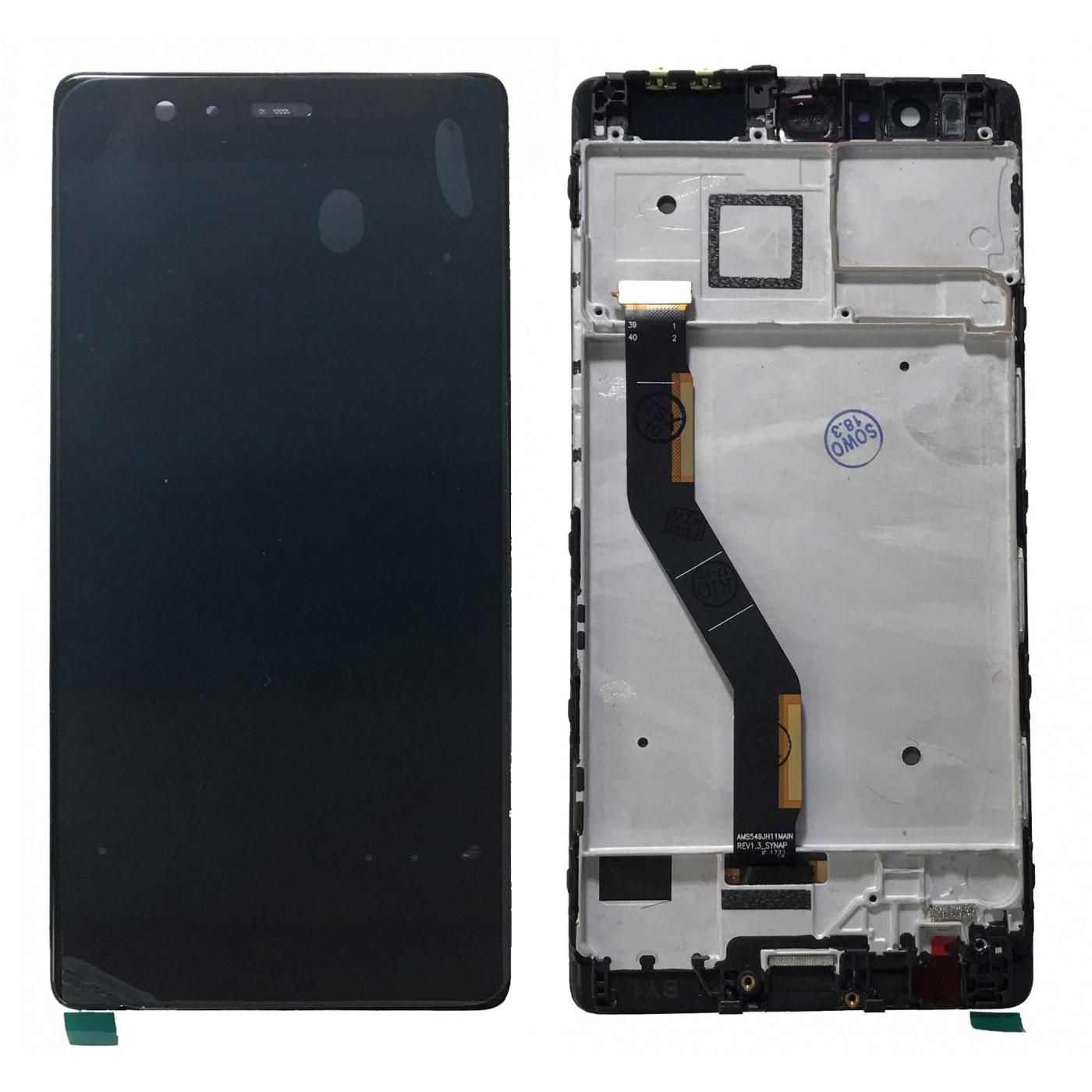ÉCRAN LCD pour Huawei P9 PLUS VIE-L09 cadre noir écran tactile en verre