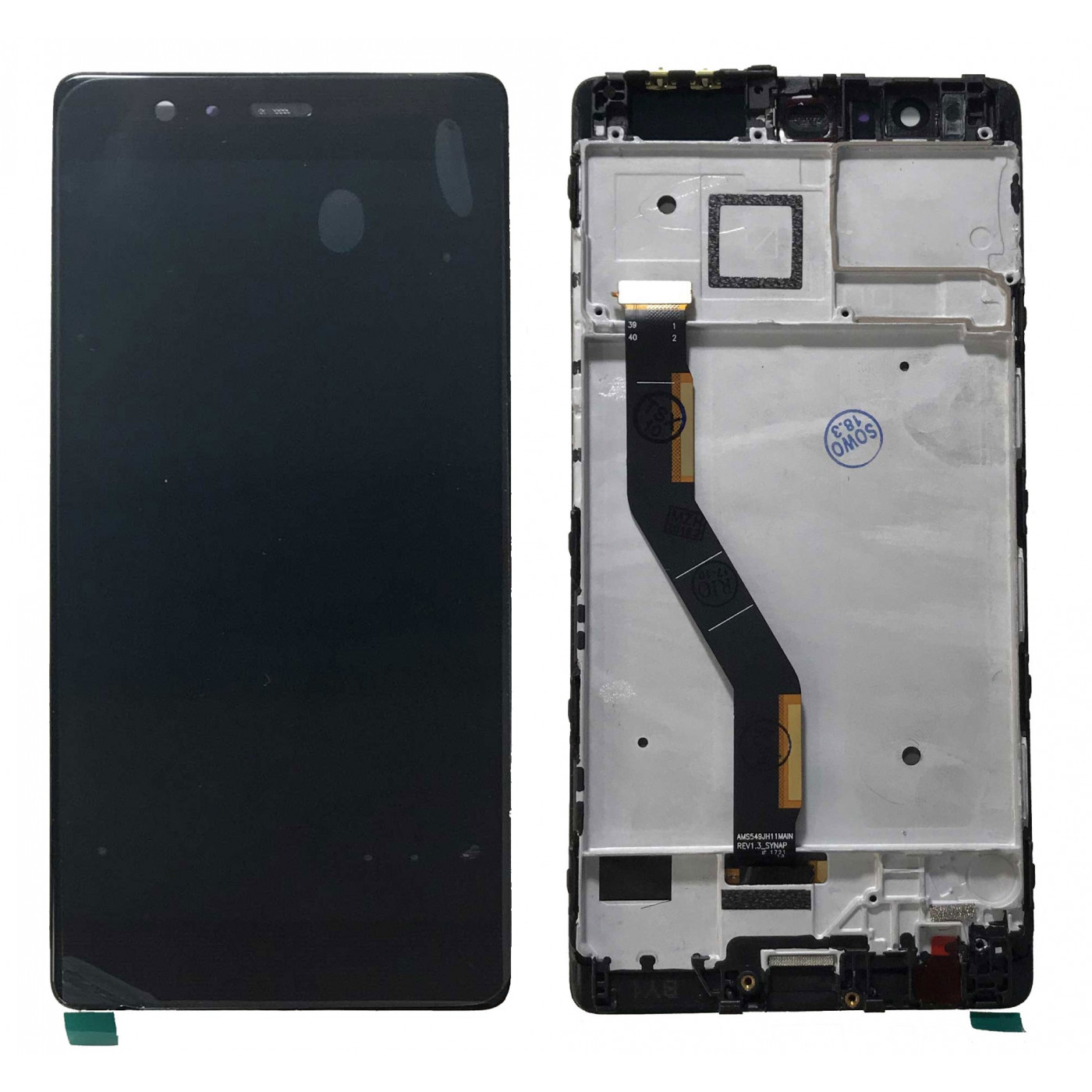 LCD-ANZEIGE Für Huawei P9 PLUS VIE-L09 BLACK FRAME TOUCH SCREEN GLASS